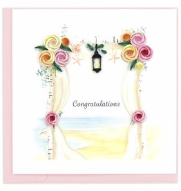 Quilling Card Quilled Wedding Chuppah Greeting Card