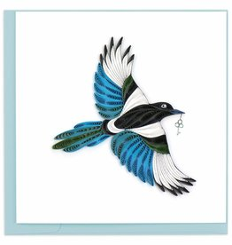 Quilling Card Quilled Black-billed Magpie Greeting Card