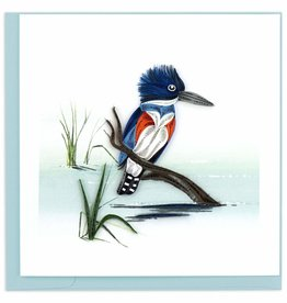 Quilling Card Quilled Perched Kingfisher Greeting Card