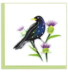 Quilling Card Quilled Starling Greeting Card