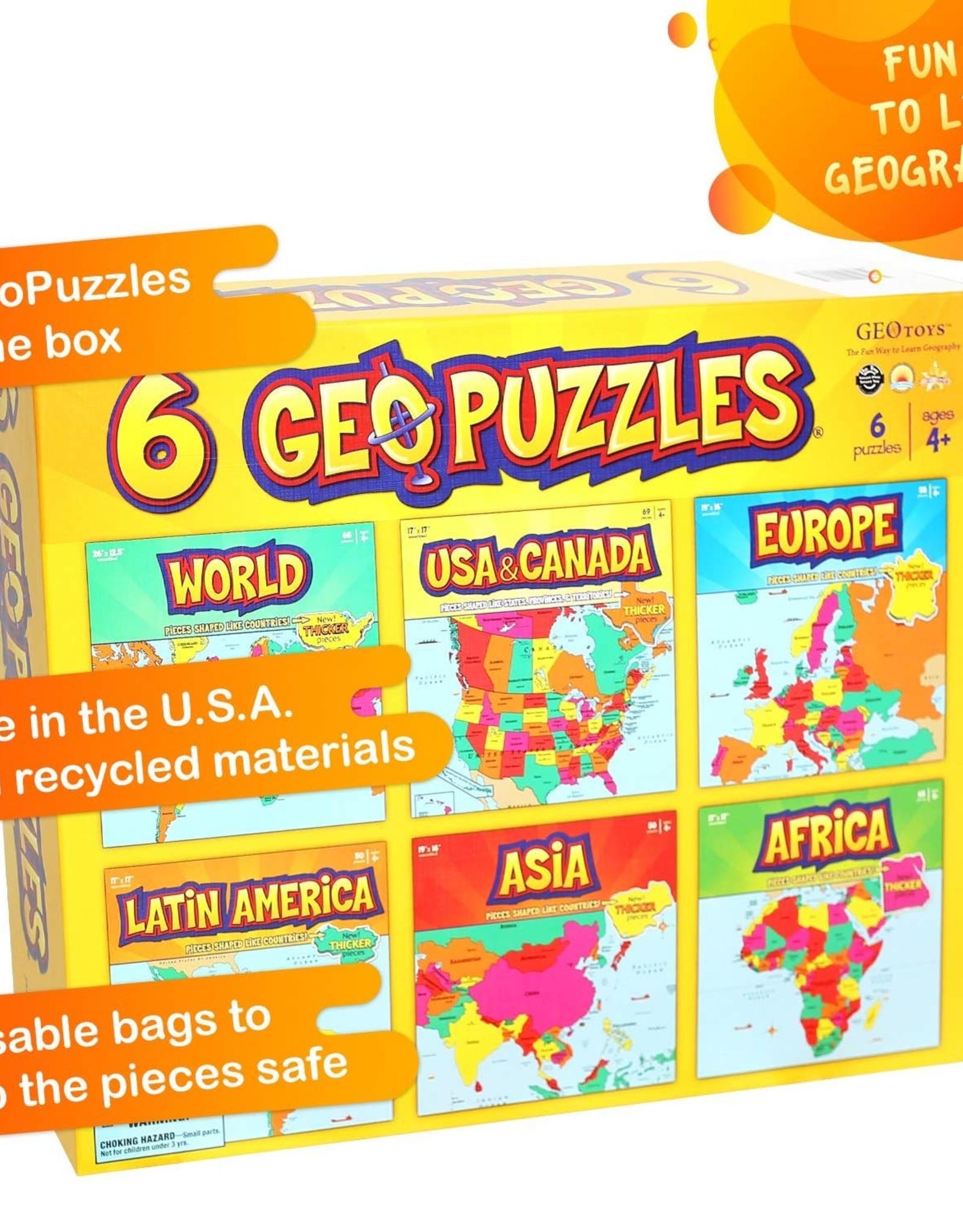 Geotoys 6 GeoPuzzles - One Box