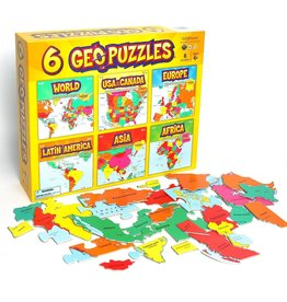 Geotoys GeoPuzzles - All 6 in One Box