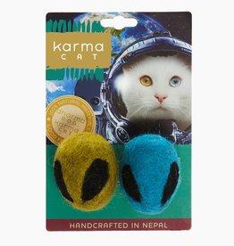 Dharma Dog Karma Cat Alien Wool Cat Toy