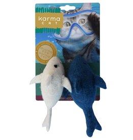 Dharma Dog Karma Cat Dolphin Wool Cat Toy