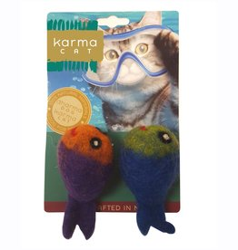 Dharma Dog Karma Cat Fish Wool Cat Toy