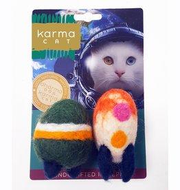 Dharma Dog Karma Cat Rocket Wool Cat Toy