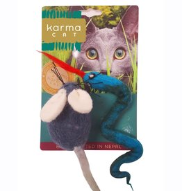 Dharma Dog Karma Cat Snake and Mouse Wool Cat Toy
