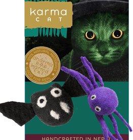 Dharma Dog Karma Cat Bat And Spider Wool Cat Toy