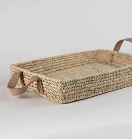 Ten Thousand Villages Rectangle Handled Basket