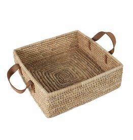 Ten Thousand Villages Square Handled Basket