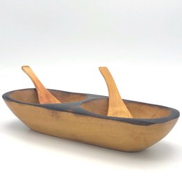 Women of the Cloud Forest Tropical Hardwood Salsa Dish Small