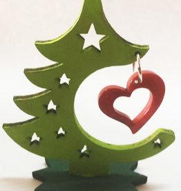 Pampeana Tagua Home Décor Christmas Tree with Heart Decoration