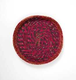 "Ten Thousand Villages Stitched Sari Fabric Tray - 12"""
