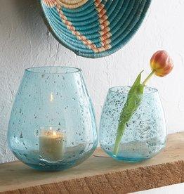 Serrv Jodhpur Blue Round Bubble Vases - Short