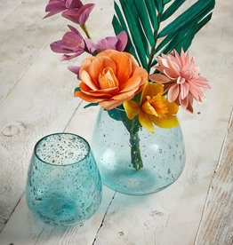 Serrv Jodhpur Blue Round Bubble Vases- Tall