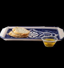 Sobremesa Nigella Cobalt Rectangular Plate