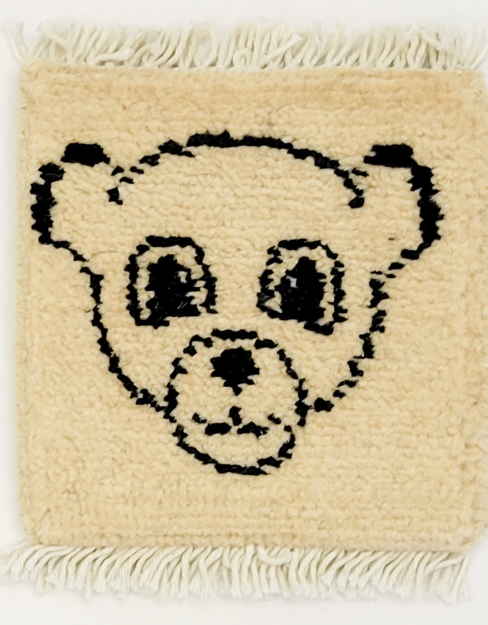 Bunyaad Pakistan Baby Bear on Ivory Mug Rug