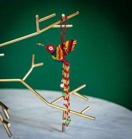 Lucia's Imports Hummingbird Large Beaded Ornament