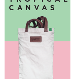 Twin Engine Tropical Canvas Tote