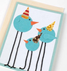 Ten Thousand Villages Party Birds Greeting Card