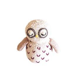Pebble Organic Owl Rattle