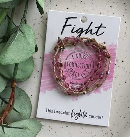 WorldFinds Fight - Cause Bracelet to fight cancer