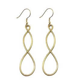 WorldFinds Double Helix Earrings - Gold