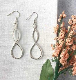 WorldFinds Double Helix Earrings - Silver