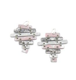 Fair Anita Ladder Earrings - Dusty Pink