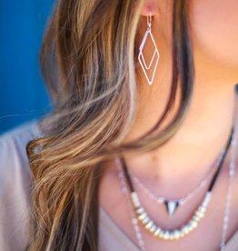 Fair Anita Rhombus Dangle Earrings - Silver