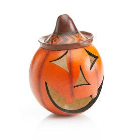Serrv Pumpkin Gourd Jack-o'-Lantern