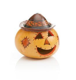 Serrv Scarecrow Gourd Jack-o'-Lantern