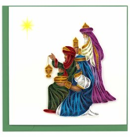 Quilling Card Quilled Three Wise Men Christmas Card