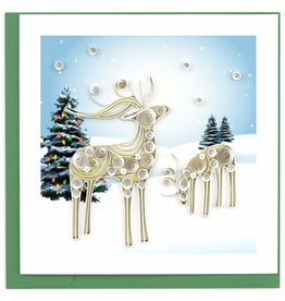 Quilling Card Quilled Snowy Reindeer Holiday Card