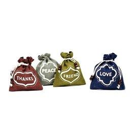 Matr Boomie Jute Gift Pouch - Love