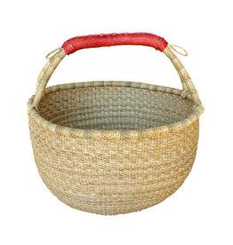 African Market Baskets NATURAL Large Round Basket