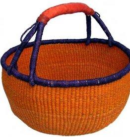 African Market Baskets Solid Large Round Basket