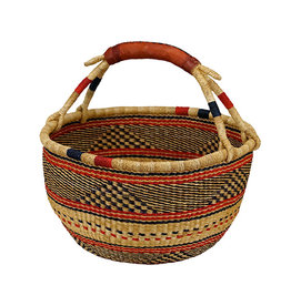 African Market Baskets Medium Round Basket
