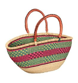 African Market Baskets Double Weave Ovals