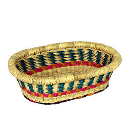 African Market Baskets Mini Oval Tray