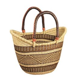 African Market Baskets XL Shopping Tote