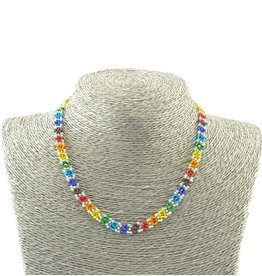 Lucia's Imports Rainbow Flower Necklace
