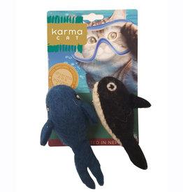 Dharma Dog Karma Cat Cat Toys, Whale & Orca