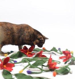 Dharma Dog Karma Cat Cat Tree Garland - Red Poinsettia