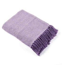 Serrv Rethread Throw - Lavender Herringbone
