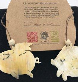 Blossom Inspirations Flying Pig Horn Ornament