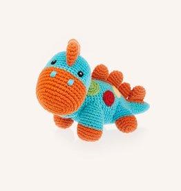 Pebble Turquoise Steggy Dinosaur Rattle