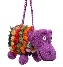 Lucuma Designs Hippopotamus - Alpaca Knitted Ornament