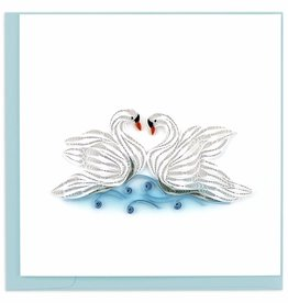 Quilling Card Quilled Swans Greeting Card