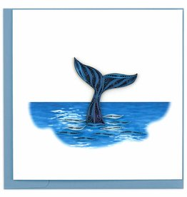 Quilling Card Quilled Whale Tail Greeting Card